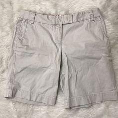 Womens J.Crew Sz 10 CIty Short Classic Bermuda Light Khaki Pockets EUC  | eBay