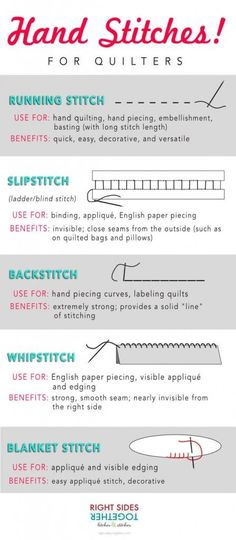 Five hand stitches every quilter should know