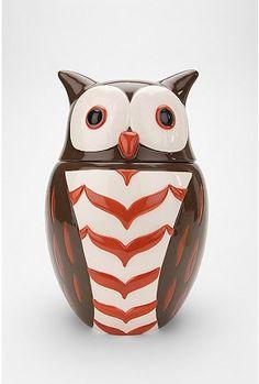 Cute owl cookie jar