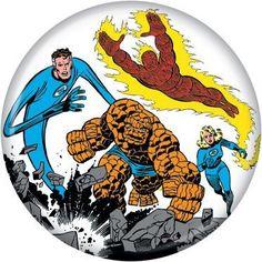 Button Pin Badge Marvel Comics Fantastic Four Group AB10 | eBay