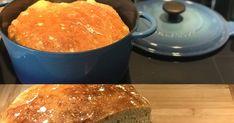 """Super leckeres und vor allem saftiges Brot im Topf gebacken; und das ganz ohne zu kneten. Das """"no knead bread"""" braucht ganze 5 min Arbeit..."""