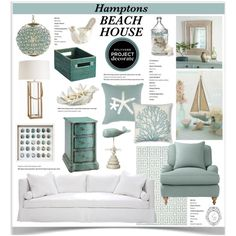 Hanging in the Hamptons Beach House 1 by jpetersen on Polyvore featuring interior, interiors, interior design, home, home decor, interior decorating, Serena & Lily, Safavieh, Williams-Sonoma and Pier 1 Imports