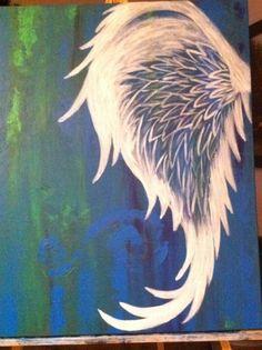 More angel wing tattoo ideas Angel Wings Painting, Angel Wings Art, Angel Art, Angel Wings Drawing, Tatoo Art, Body Art Tattoos, Sleeve Tattoos, Tatoos, Tattoos Skull