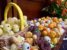Gorgeous Easter chicks knitted by the Knit and Stitch Group at St Michael's Church Framlingham for our Easter Day Service