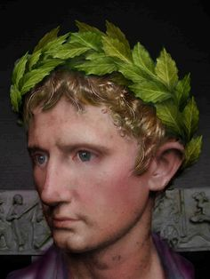 Reconstruction of the Emperor Augustus - he looks nervy, and the kind of man who would excuse cruelty by principle to me