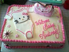 Elegant Hello Kitty Sheet Cake