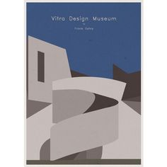 sketch / ARCHITECTURE - Germany - Vitra Design Museum - Poster Artwork... via Polyvore