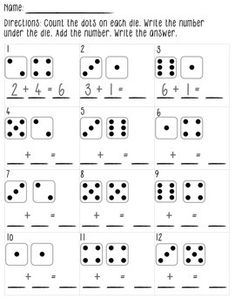 free Dice Addition Game