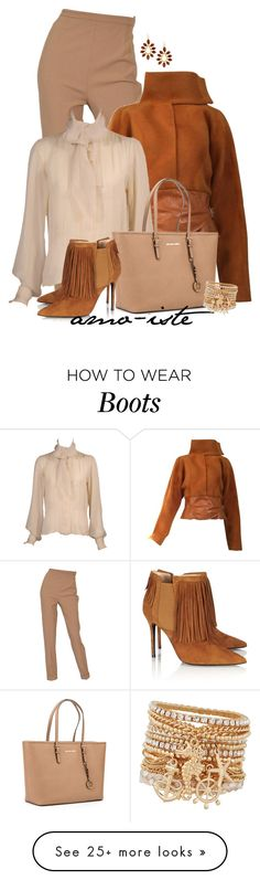 """Fringed Boots"" by amo-iste on Polyvore featuring Hermès, Yves Saint Laurent, MICHAEL Michael Kors, Aperlaï, Kendra Scott and ALDO"