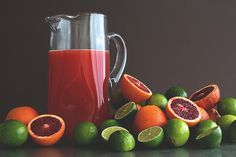 Blood Orange Margarita Pitchers!