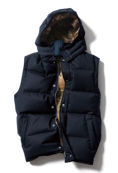 nice hooded winter vest that can go over a blue jean or track jacket