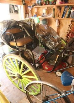 """Two person single axel horse drawn carriage 60"""" wide with 48"""" diameter wheels. Excludes other lots."""