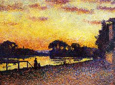 The Athenaeum - Banks of the Seine at Herblay, Sunset (Maximilien Luce - )