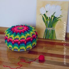 Crochet Pouf Mandala