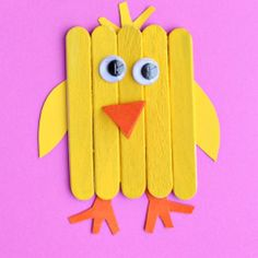 Celebrate Easter with these fun and easy easter crafts. There are craft ideas for adults and kids. From mason jar crafts to paper crafts, there are plenty of cute DIY easter decorations to choose from. Spring Crafts For Kids, Easter Crafts For Kids, Toddler Crafts, Easter Projects, Summer Crafts, Popsicle Stick Crafts, Craft Stick Crafts, Preschool Crafts, Popsicle Sticks