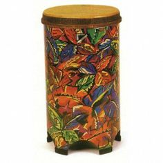 World Percussion TU051209 Remo 12'' Tubano-Tropical Leaf by World Percussion. $146.99. Tubanos are a Remo Drum Company exclusive. Conga-like in sound, the tubano features an internal resonating tube and four molded feet to allow full resonance without using a floor stand or tilting the drum. The Acousticon™ shell is manufactured from recycled hardwood fibers and is unaffected by climatic changes; Fiberskyn 3®  head gives an outstanding authentic ethnic drum sound....