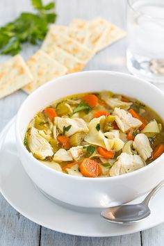 Slow Cooker Chicken Noodle Soup - love this recipe! Easy and comforting on a cold winter day!