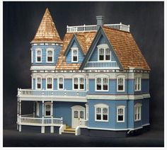 This contemporary Queen Anne Victorian dollhouse is similar to the replica of the Manigault Home. (courtesy of Real Good Toys, Vermont)