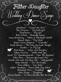 Top 20 Father Daughter Wedding Dance Songs... Did we miss any?