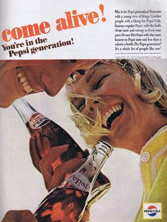Come alive! You're in the Pepsi generation! Pepsi Ad from 1964