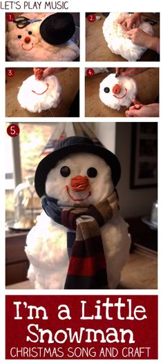 My Little Snowman : DIY Adorable snowman with his own little song too!  Let's Play Music