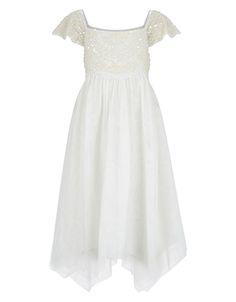 Beaded Estella Dress | Ivory | Monsoon
