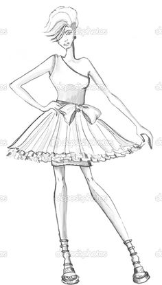 Color on pinterest princess coloring pages coloring for Fashion girl coloring pages