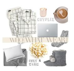 """Cozy & Warm"" by voguefashion101 ❤ liked on Polyvore featuring Jonathan Adler, Charter Club, J.Crew, Sofia Cashmere and L.L.Bean"