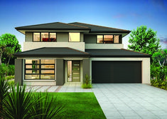 Clarendon Home Designs: Sherwood 35 Vista Facade. Double Storey House Plans, Double Story House, Modern House Plans, Modern House Design, Clarendon Homes, American Houses, Storey Homes, Exterior House Colors, Facade House