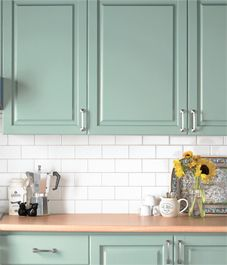 How to update your kitchen with paint. Some cheap ideas to freshen kitchen look.