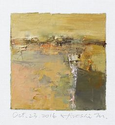 Oct. 23, 2016 - Original Abstract Oil Painting - 9x9 painting (9 x 9 cm - app. 4 x 4 inch) with 8 x 10 inch mat