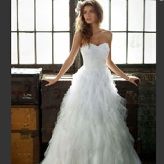 David's Bridal. just want to get married!