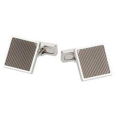 Osborne Silver textured square cufflinks- at Debenhams.com £13