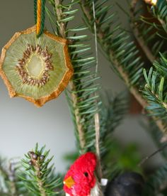 red bird crafts: hanging fruit