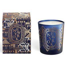 New York - Bougie Parfumée - Les Voyages de Diptyque - Diptyque Paris Bougie Candle, Candle Jars, Dry Sand, Outdoor Candles, New York, Healing Oils, Islamic World, Paris, Scented Candles