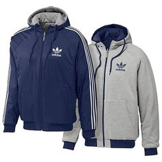 The infamous reversible Adidas jacket! Also the generic non-Adidas imposter that had 2 stripes instead of 3 LOL