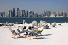 QATAR: Doha's growing cosmopolitanism is embodied by its Corniche promenade. This seaside boulevard is a medley of cycling tracks, footpaths and sheesha cafés. Occupying a pride of place on this Qatari Croisette is the MUSEUM OF ISLAMIC ART, a sublime study in Oriental architecture.