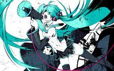 Vocaloid Hatsune Miku Love is War twintails detached sleeves
