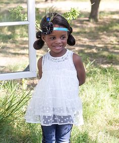 Loving this White Double Layer Twirl Top - Infant, Toddler & Girls on #zulily! #zulilyfinds