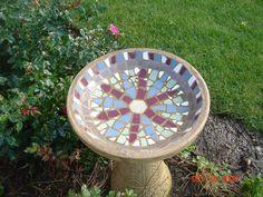 I enjoyed making this mosaic birdbath