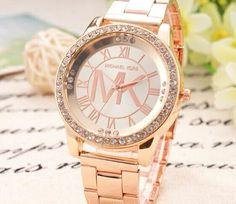 Mode Stahlband Uhren Frau Diamant Armbanduhr Männer Edelstahl Tisch Gold Silber Und Rotgold Drei Farben
