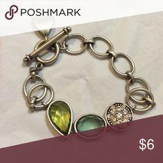 Lia Sophia bracelet Pretty jewel colors with silver Lia Sophia Jewelry Bracelets