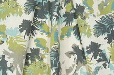 Tropical Palms Fabric Designer Coastal Decorating Fabric by the Yard Cotton Drapery Curtain Fabric Upholstery Fabric Beach Fabric B229
