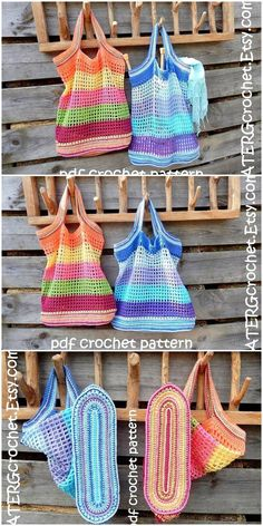 Some Thrilling Crochet Pattern Ideas to Make Your . - Some Thrilling Crochet Pattern Ideas to Make Your . Crochet Market Bag, Crochet Tote, Crochet Handbags, Crochet Purses, Diy Crochet, Crochet Crafts, Crochet Projects, Crochet Ideas, Crochet Bikini