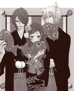Kamisama Hajimemashita. Love this type of manga. Great storyline, and the drawing style is fantastic. It always makes me smile.