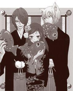 Kamisama Hajimemashita. Love this type of manga. Great storyline, and the drawing style is fantastic. It always makes me smile.