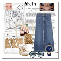 """""""Blue"""" by spolyvore1 ❤ liked on Polyvore featuring New Look, Frame Denim, Fendi, Tom Ford and Balmain"""