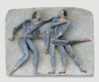 Keramikmuseum Westerwald - 'Tanzbewegung II' (museum-digital:rheinland-pfalz)Gisela Schmidt-Reuther, Rengsdorf, 1974