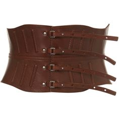 Structured Corset Belt ($90) ❤ liked on Polyvore featuring accessories, belts, corsets, cintos, cinture, women, leather strap belt, leather belt, real leather belt and strap belt