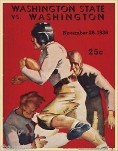 washington+huskies+football | Washington Huskies V State Vintage Official 1936 College Football ...